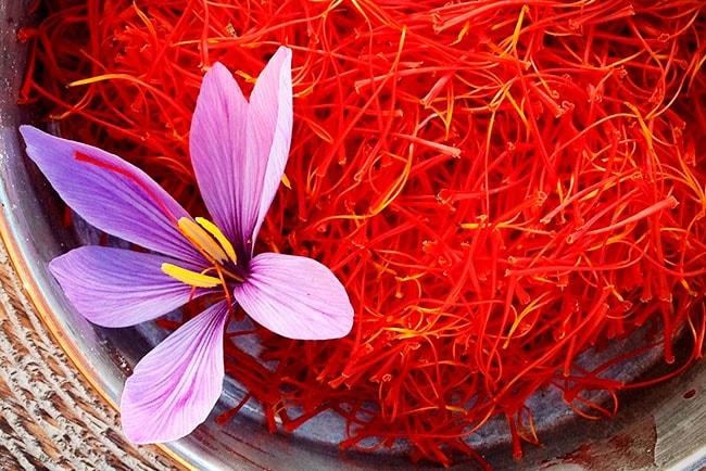 Saffron typical ingredient in paella recipes