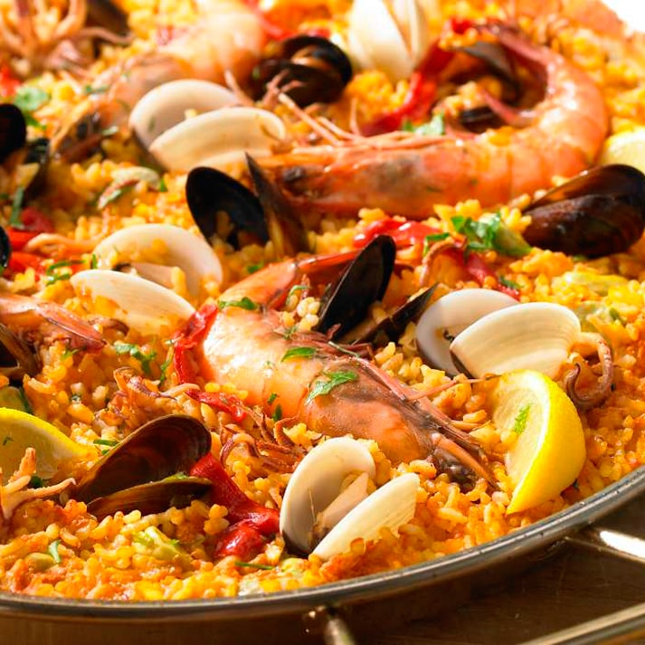 Paella Seafood Receipe the most authentic