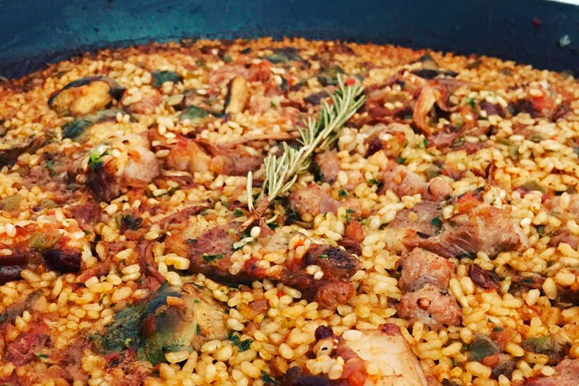 Paella with Pork and chorizo for the meat lovers