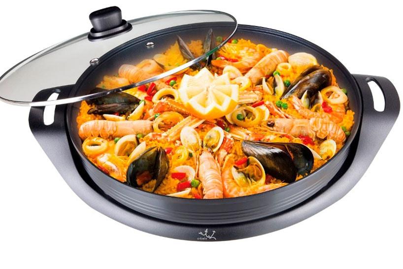 Electric paellera pan as example