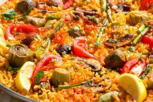 vegetarian paella plate